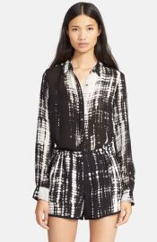 ALC and39Songand39 Print Silk Blouse at Nordstrom