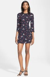 ALC and39Tordiand39 Print Silk Minidress at Nordstrom
