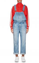 ALEK DENIM STRAIGHT CROP OVERALLS at Barneys