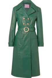 ALEXACHUNG - Belted leather trench coat at Net A Porter