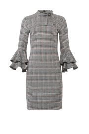ALEXIA ADMOR PLAID RUFFLE SLEEVE DRESS at Rent The Runway