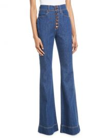 ALICE   OLIVIA JEANS Beautiful High-Rise Wide-Leg Jeans at Neiman Marcus