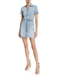 ALICE   OLIVIA JEANS Gorgeous Zip-Up Mini Dress at Neiman Marcus