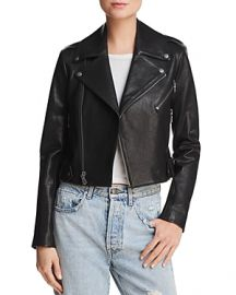 ALICE OLIVIA CODY CROPPED LEATHER MOTO JACKET at Bloomingdales