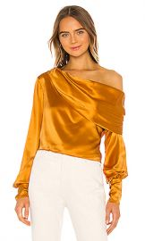 ALIX NYC Catherine Blouse in Saffron from Revolve com at Revolve