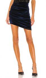 ALIX NYC Cyrus Velvet Skirt in Midnight from Revolve com at Revolve