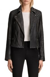 ALLSAINTS Cargo Leather Biker Jacket   Nordstrom at Nordstrom