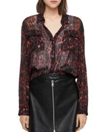 ALLSAINTS Adeliza Leopard Print Blouse  Women - Bloomingdale s at Bloomingdales