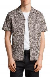 ALLSAINTS Apex Leopard Print Short Sleeve Sport Shirt   Nordstrom at Nordstrom