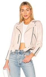 ALLSAINTS Balfern Biker Jacket in Powder Pink from Revolve com at Revolve