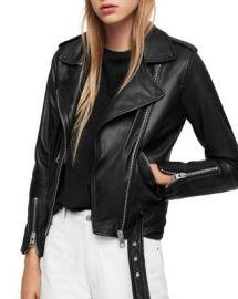 ALLSAINTS Balfern Leather Biker Jacket Women - Bloomingdale s at Bloomingdales