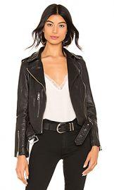 ALLSAINTS Balfern Leather Biker Jacket in Black from Revolve com at Revolve