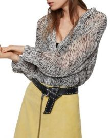 ALLSAINTS Bernie Zed Zebra Print Shirt  Women - Bloomingdale s at Bloomingdales