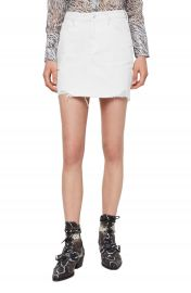 ALLSAINTS Betty Raw Hem Denim Miniskirt   Nordstrom at Nordstrom