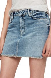 ALLSAINTS Betty Studded Denim Skirt at Nordstrom