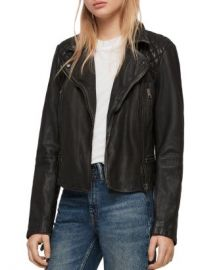 ALLSAINTS Cargo Quilted Leather Biker Jacket Women - Bloomingdale s at Bloomingdales