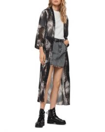 ALLSAINTS Carine Feather Print Kimono Robe Women - Bloomingdale s at Bloomingdales