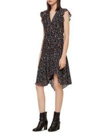 ALLSAINTS Caris Floral Ruffle Dress Women - Bloomingdale s at Bloomingdales