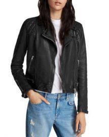 ALLSAINTS Conroy Quilted Leather Biker Jacket Women - Bloomingdale s at Bloomingdales
