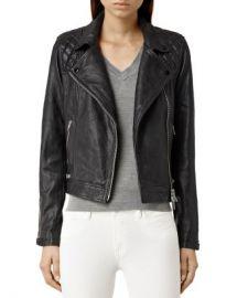 ALLSAINTS Conroy Quilted Leather Biker Jacket Women - Bloomingdale s at Bloomingdales