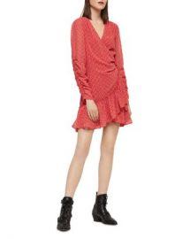 ALLSAINTS Flores Heart Print Wrap Dress Women - Bloomingdale s at Bloomingdales