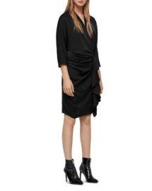 ALLSAINTS Issey Draped Dress Women - Bloomingdale s at Bloomingdales