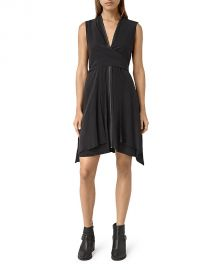 ALLSAINTS Jayda Silk Dress black at Bloomingdales