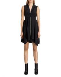 ALLSAINTS Jayda Zip-Front Silk Dress Women - Bloomingdale s at Bloomingdales