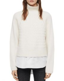 ALLSAINTS Jones Layered-Look Cable-Knit Sweater  Women - Bloomingdale s at Bloomingdales