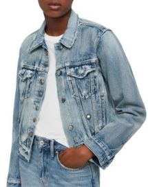 ALLSAINTS Lexi Snap Detail Denim Jacket  Women - Bloomingdale s at Bloomingdales