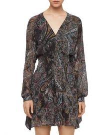 ALLSAINTS Nichola Paisley Print Smocked Dress  Women - Bloomingdale s at Bloomingdales