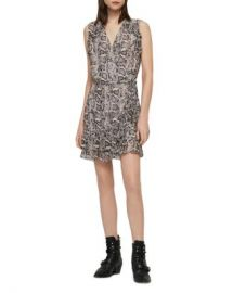 ALLSAINTS Priya Misra Snake Print Wrap Dress  Women - Bloomingdale s at Bloomingdales