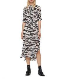 ALLSAINTS Xena Zephyr Pleated Midi Dress  Women - Bloomingdale s at Bloomingdales