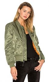 ALPHA INDUSTRIES MA-1 W Bomber in Sage from Revolve com at Revolve