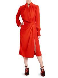 ALTUZARRA - KAT WRAPPED SHIRT DRESS at Saks Fifth Avenue