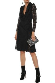 ALTUZARRA OURIKA RUFFLE-TRIMMED COTTON-BLEND LACE  dress at The Outnet