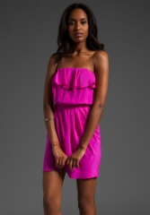 AMANDA UPRICHARD Joan Dress in Hot Pink at Revolve