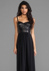 AMANDA UPRICHARD Mojito Maxi Dress in Black at Revolve
