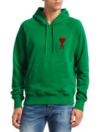 AMI Ami De Couer Hoodie at Saks Fifth Avenue