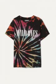 AMIRI - Wild Ones printed tie-dyed cotton-jersey T-shirt at Net A Porter