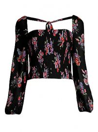 AMUR - Beverly Floral Puff Sleeve Top at Saks Fifth Avenue