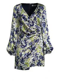 AMUR - Fran Silk Wrap Dress at Saks Fifth Avenue