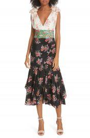 AMUR Lolly Floral Print Silk Dress   Nordstrom at Nordstrom