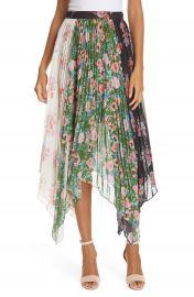 AMUR Mica Floral Print Asymmetrical Skirt   Nordstrom at Nordstrom