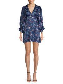 AMUR Steph Floral Puff-Sleeve Mini Dress at Saks Fifth Avenue