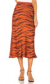 ANINE BING Bar Silk Skirt in Zebra from Revolve com at Revolve