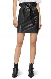 ANINE BING Laurie Paperbag Waist Leather Miniskirt   Nordstrom at Nordstrom