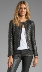ANINE BING Quilted Jacket in Black  REVOLVE at Revolve