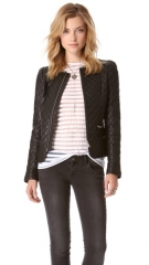 ANINE BING Quilted Leather Jacket at Shopbop
