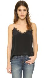 ANINE BING Silk Camisole black at Shopbop
